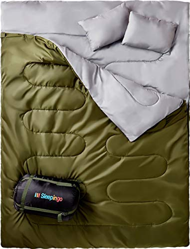 sleepingo double sleeping bag for backpacking camping hiking