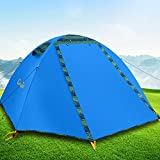 Campla Camping Tent 2 Person 3-4 Season Backpacking Tent Waterproof...