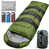 HiHiker Camping Sleeping Bag + Travel Pillow w/Compact Compression...
