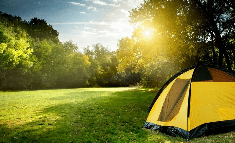 camping in summer